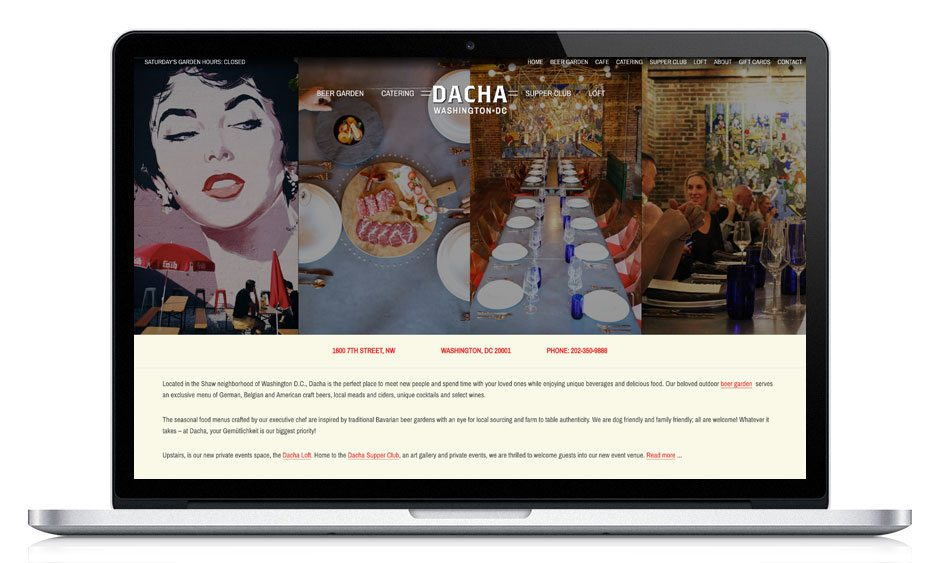 Dacha Beer Garden Website