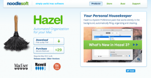 This is a screenshot of the Hazel App