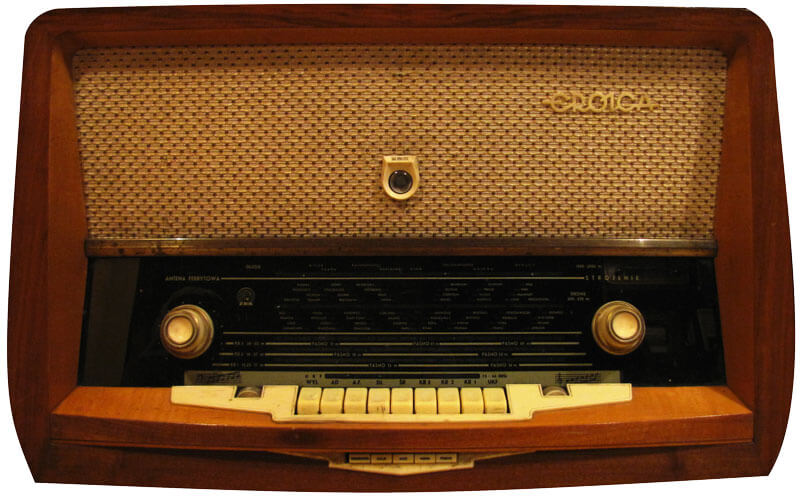 This is a photo of an old radio