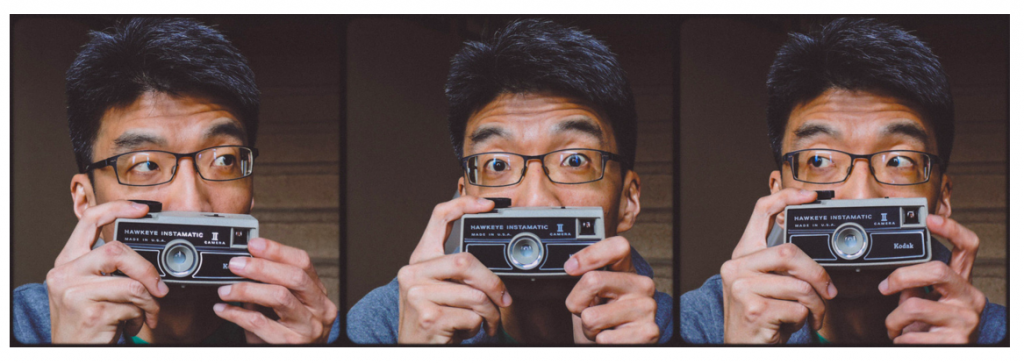 This is a photo of Lawrence Cheng with his camera