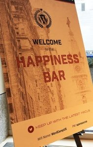 This is a photo of a Happiness Bar Sign