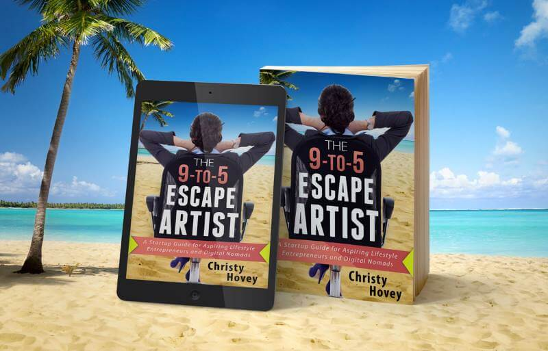 This is a photo of the book The 9 to 5 Escape Artist by Chirsty Hovey