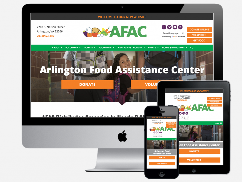 AFAC website on multiple devices