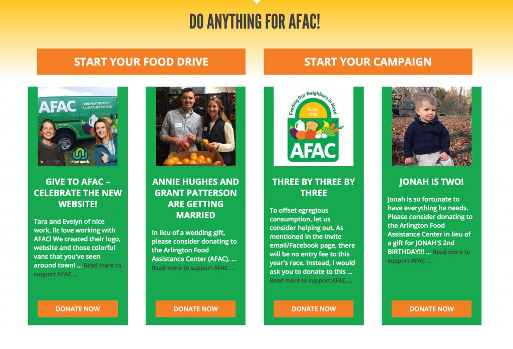 AFAC Personal Fundraisers
