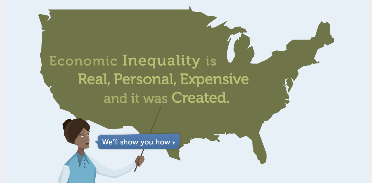 screenshot of inequality is fixable website design