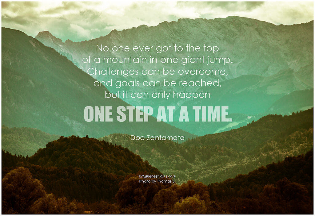 one step at a time poster