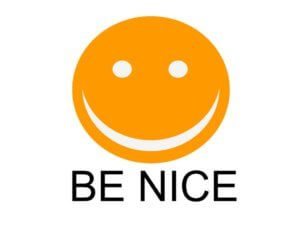 Be Nice Happy Face