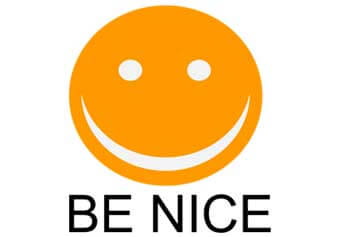 Be Nice Smiley Face