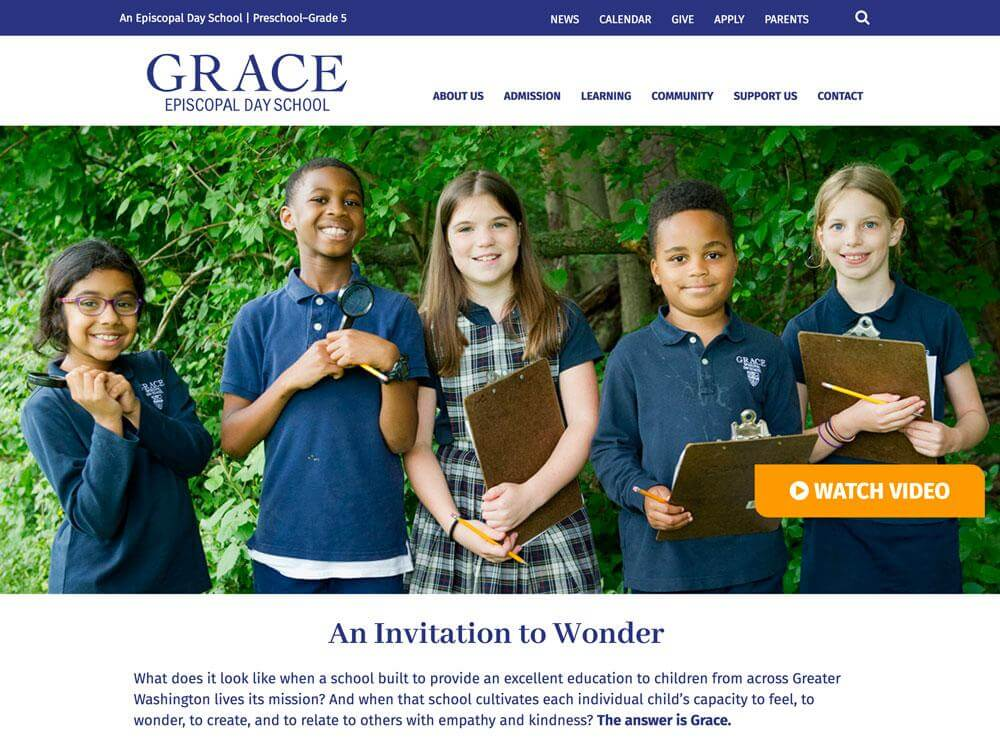 Grace School Website Screenshot