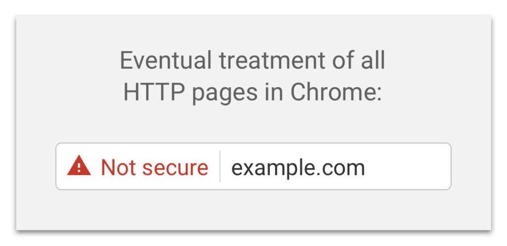 insecure http message from Google