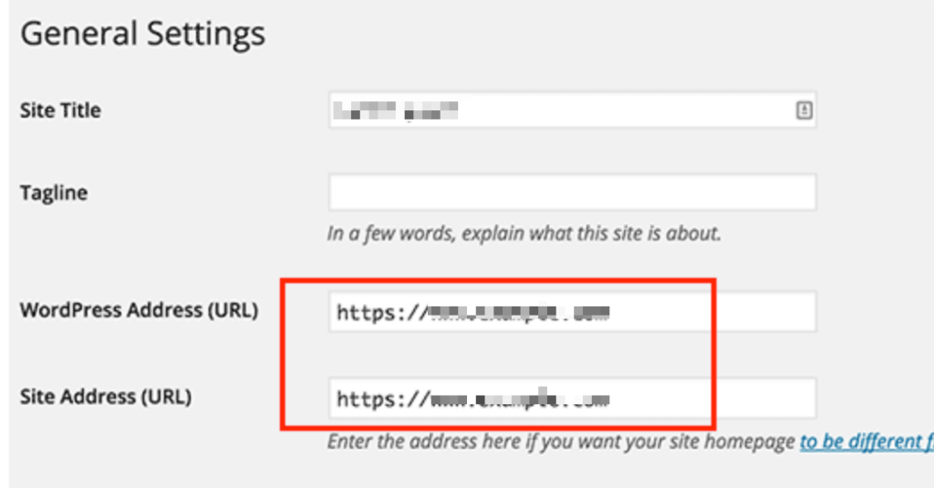 WordPress SSL Settings