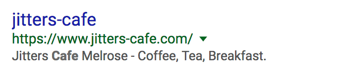 Example of poorly configured search result content