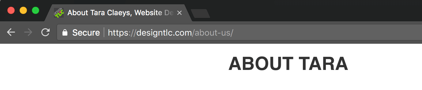 Browser Tab showing SEO Title