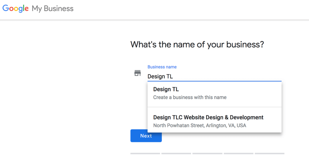 Google My Business Set Up Example