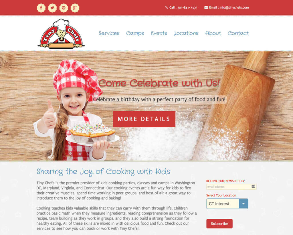 Tiny Chefs Old Website