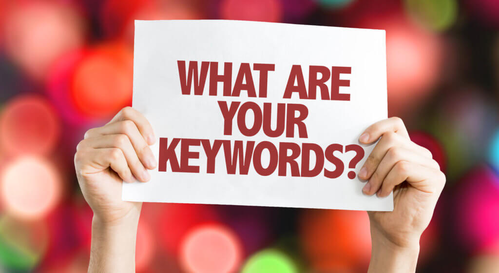 What Are Your Keywords sign