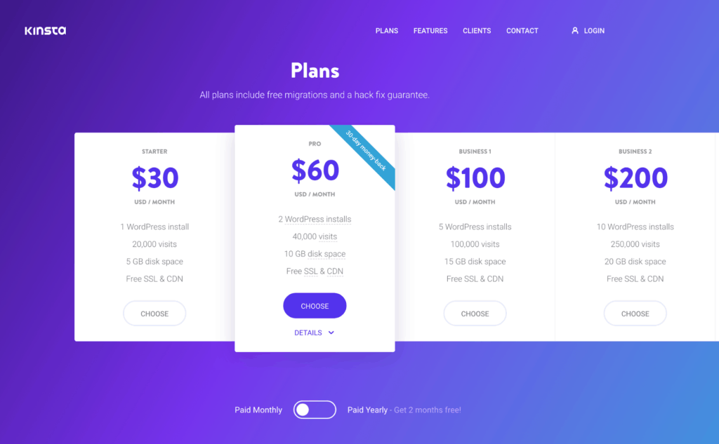 Kinsta Website Hosting
