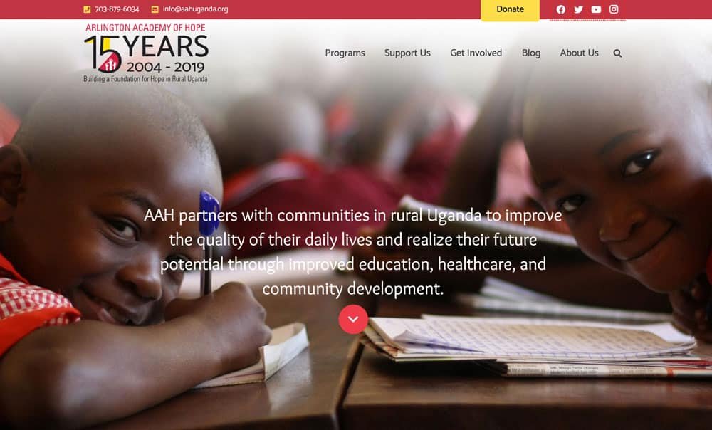 Arlington Academy of Hope Website