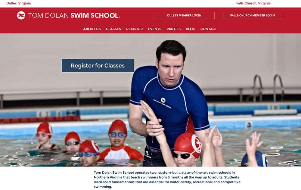 Tom Dolan Swim School Enrichment Website