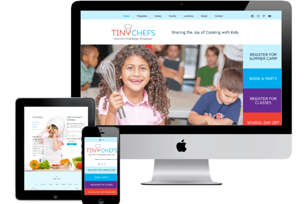 Tiny Chefs Enrichment Program Website