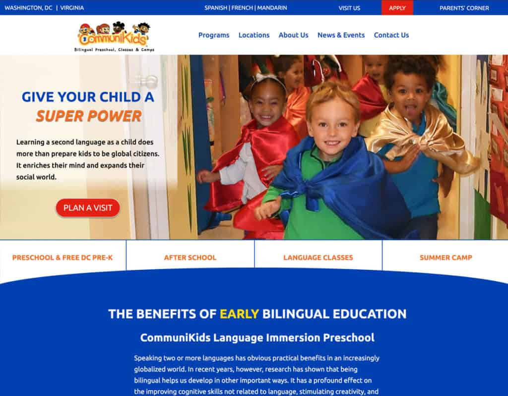 CommuniKids Preschool Website Redesign by Design TLC
