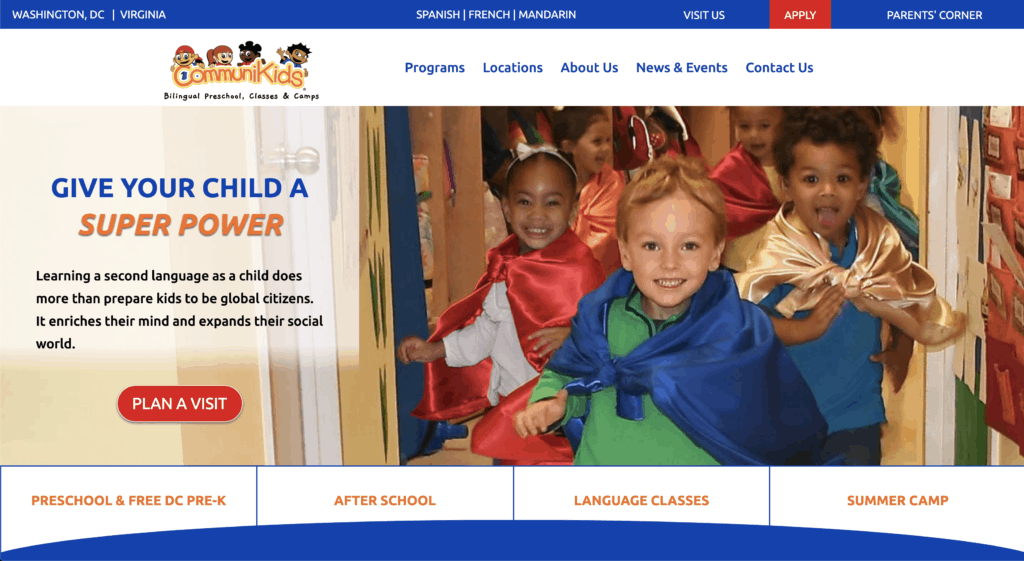 Communikids school website