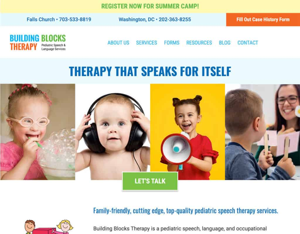 Building Blocks Speech Therapy Website