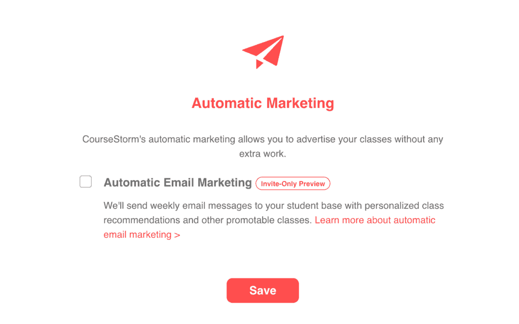 CourseStorm automated marketing