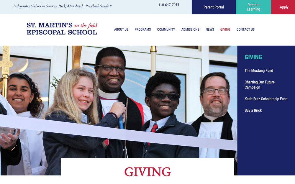 St. Martins School Donation Page