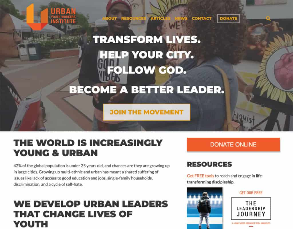 Urban Youth Workers Institute Website