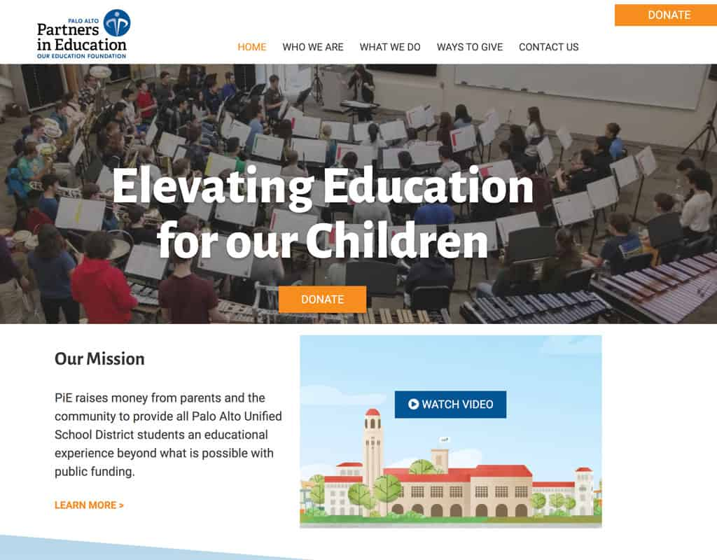 PAlo Alto Partners in Education Website