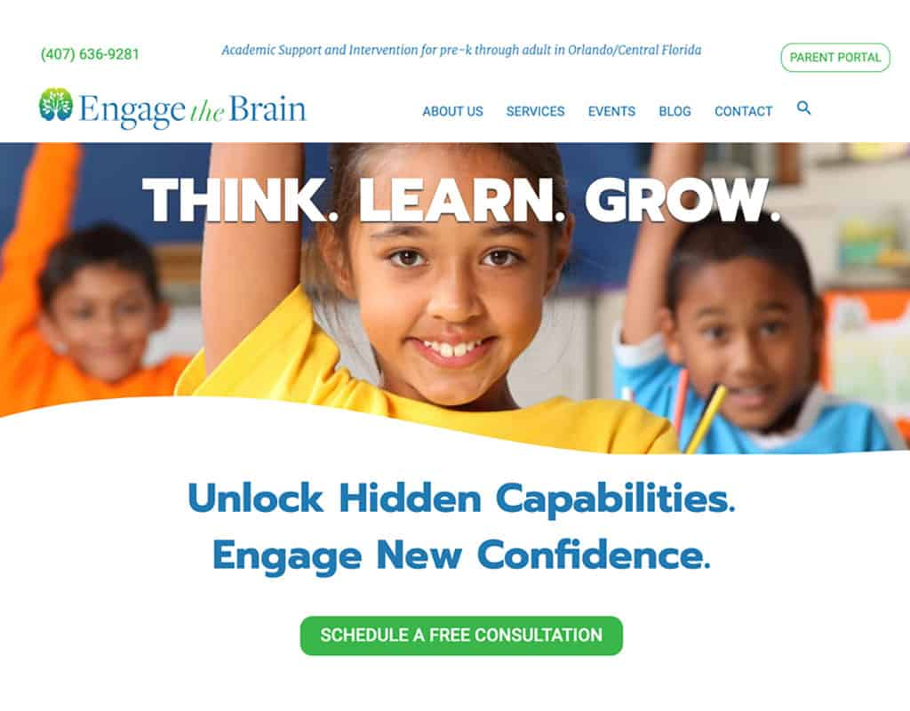 Engage The Brain Tutoring Website