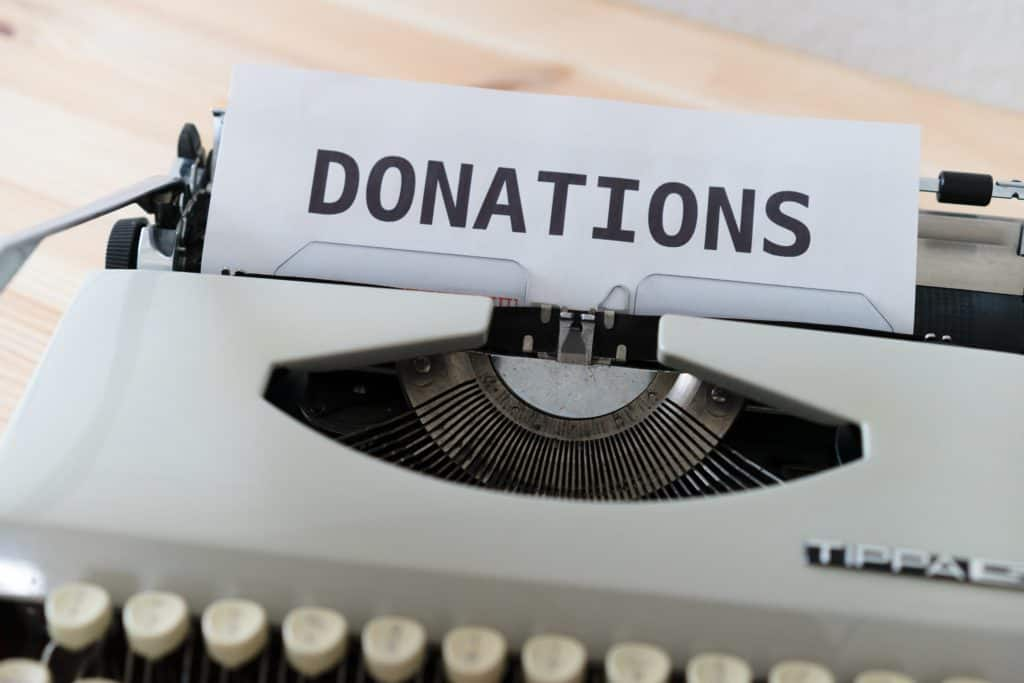 Giving Tuesday donation stock photo
