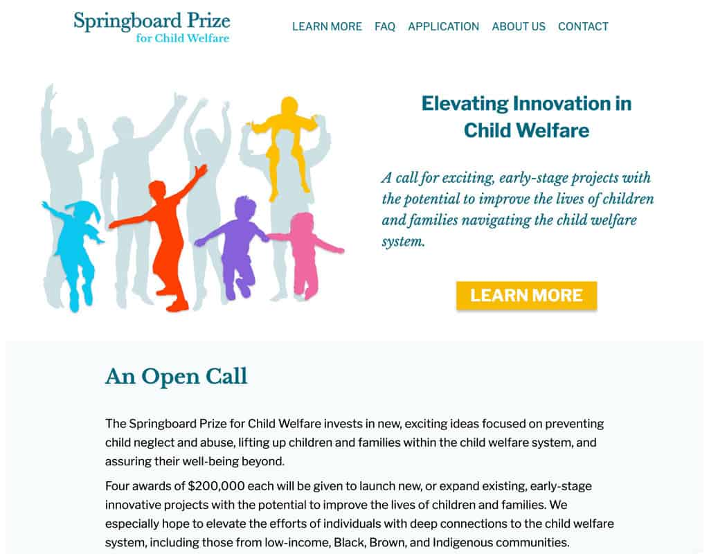 Springboard Prize Website