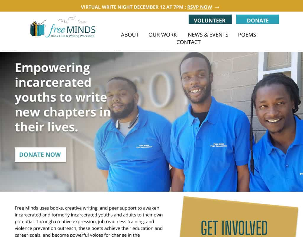 Website for Free Minds Books Club
