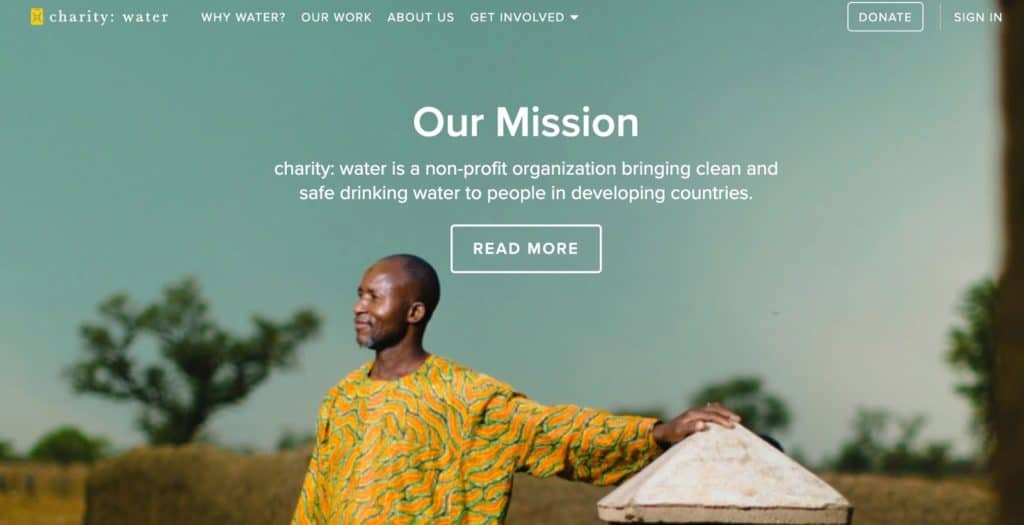 Charity Water mission statement