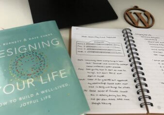Designing Your Life Book on Tara's desk